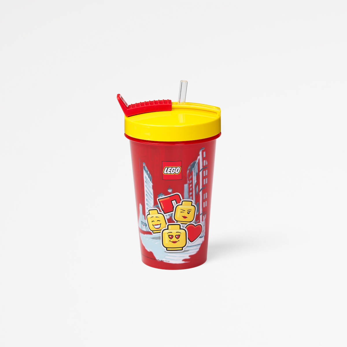Lego tumbler with straw, healthy, drinking, kid, play, lunch, yellow