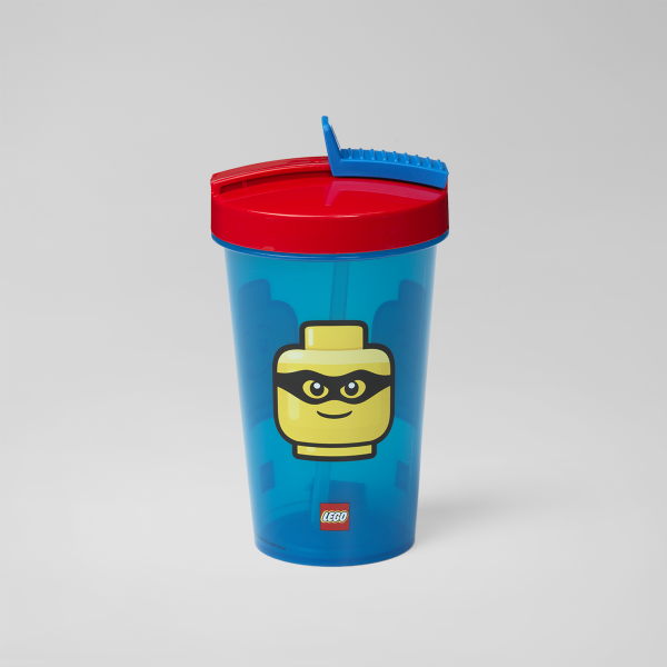 driking bottle, lego, tumblerwStraw, iconic, design, hydration, smoothie, juice, toddlers,