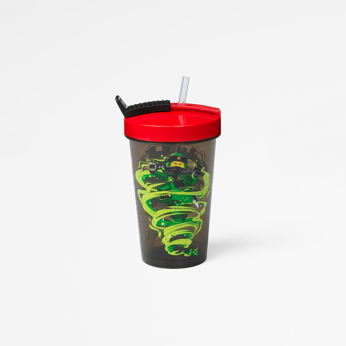 Lego tumbler with straw, plastic, lunch, children, playful, roomcopenhagen, red