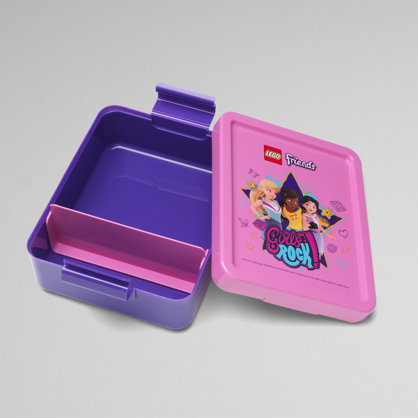 lego friends lunch box, happy, creative, design, girls, purple, happy,