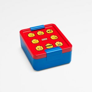 Lego lunch box, sandwich, lunch, kids, happy, healthy, blue