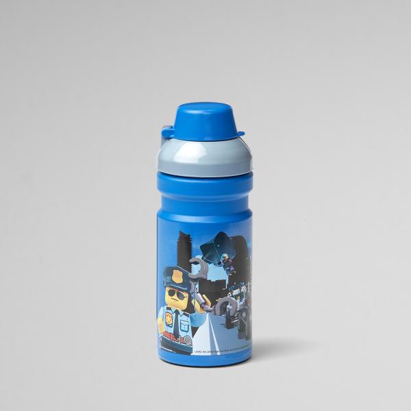 Lego drinking bottle, plastic, Set, lunch, kid, blue, fun, hydration, City