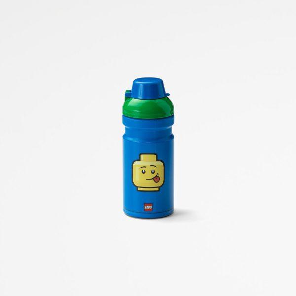 Lego drinking bottle, plastic, food, lunch, children, fun, green, boy