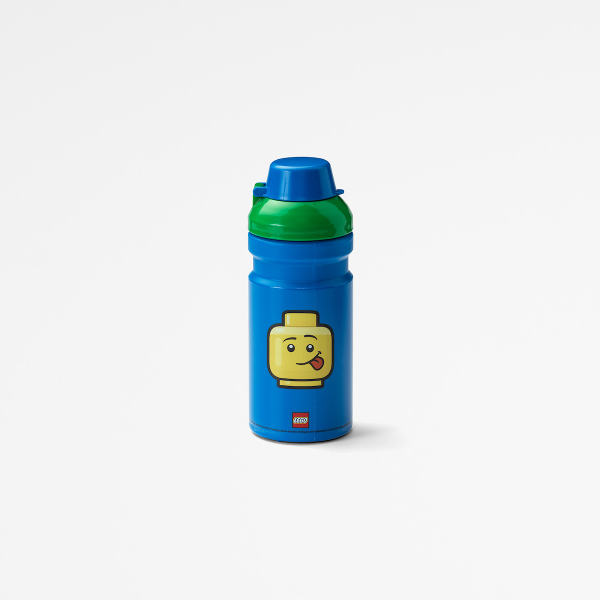 Lego drinking bottle, plastic, food, lunch, children, fun, green, boy