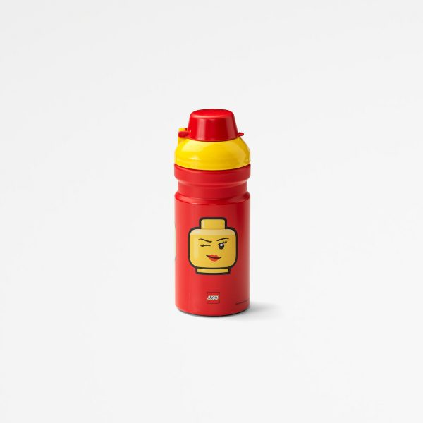 Lego drinking bottle, food, nutritious, drinking, kids, playful, yellow,