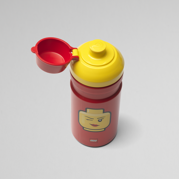Lego drinking bottle girl, lunch, drinking, healthy, kids, happy, red, creative, hydrated,