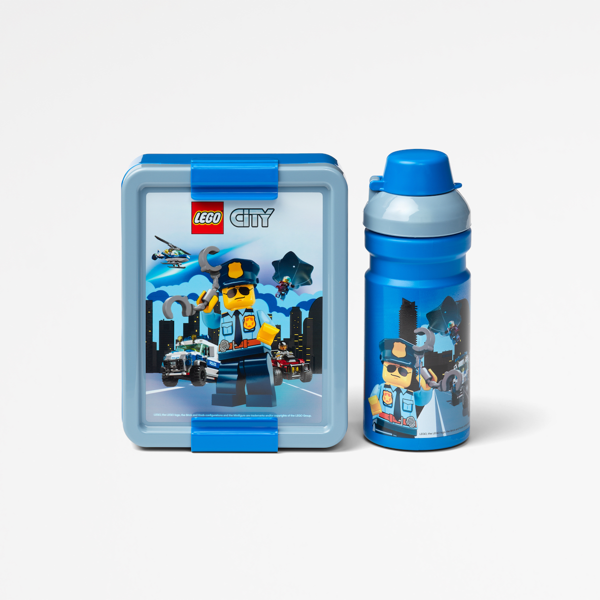 Lego lunch set, plastic, collection, lunch, happy, playful, household