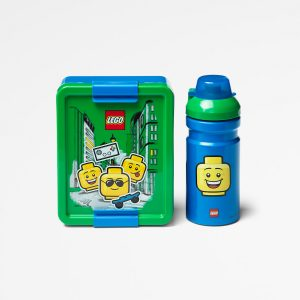 Lego lunch set, lunch, food, drinking, kids, nutritious, green