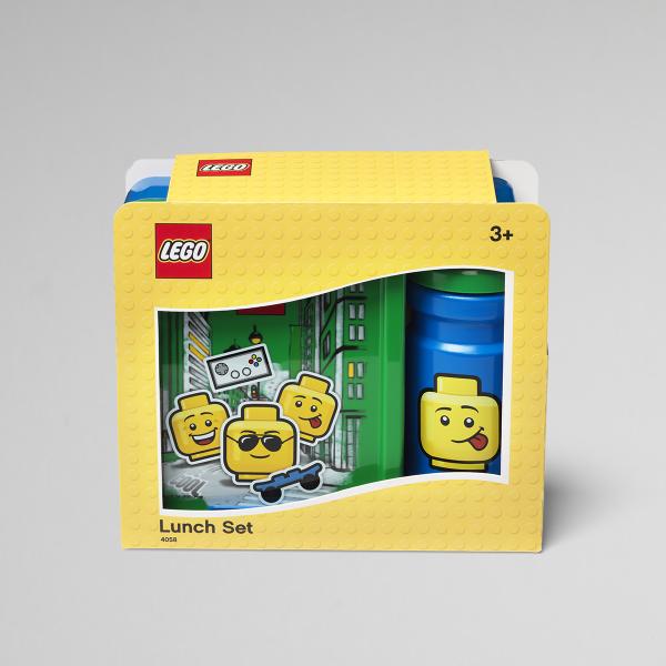 Lego Lunch Set, Boy, Green, collect, lunch, healthy, food, school, education,