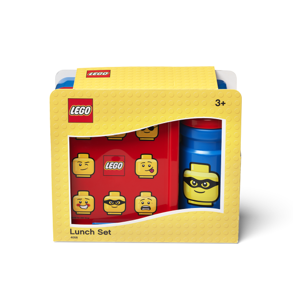 Lego Iconic Lunch Set, drinking bottle, collection, food, toddler, happy, imagination, nutritious