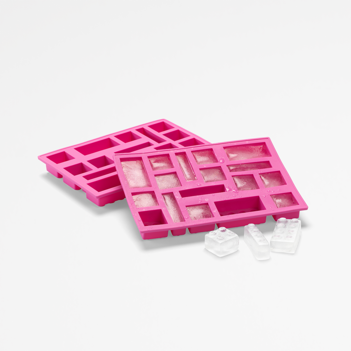 Ice tray full of LEGO® bricks