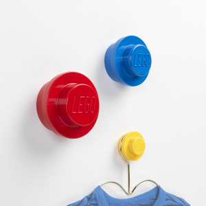 Wall hangers in LEGO colors, kidsroom, fun, design, create, set