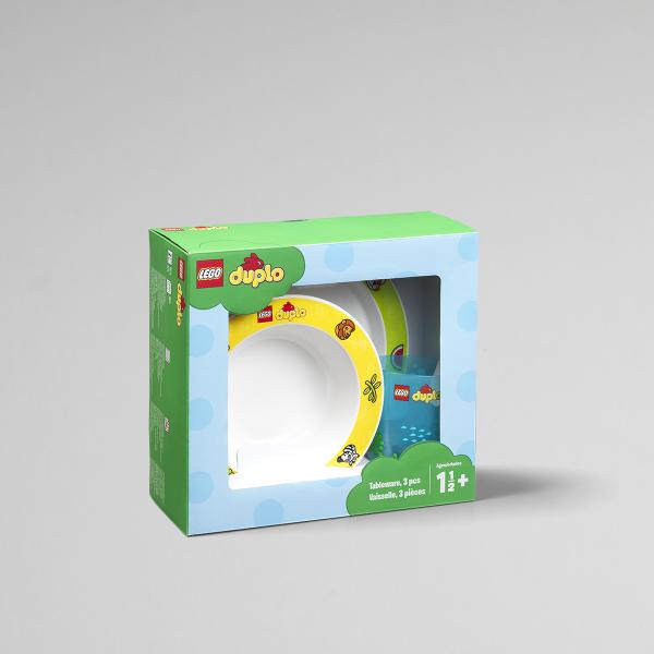 LEGO Duplo, Tableware Set, packaging, kids, fun, happy, cup, design,