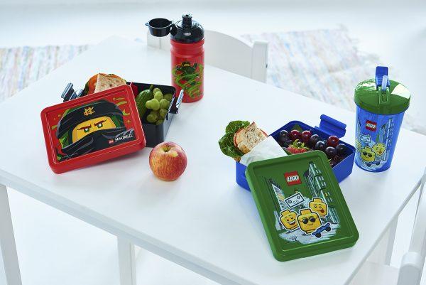 lego lunch set, ninjago, boy, fruit, school, healthy, nutrition, happy, friends, cool